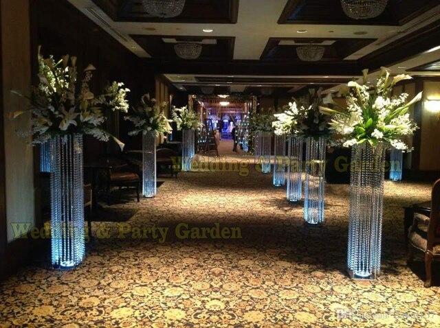 Free Shipping 100cm H Wedding Crystal Columns Wedding Centerpiece