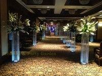 Gratis Verzending 100 cm (H) Wedding Crystal Kolommen Bruiloft Middelpunt Evenement Partij Decoratie