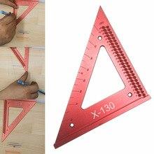 Ligne de travail du bois règle trou griffonnage jauge précision carrés Triangle règle travail du bois croisé outil de mesure