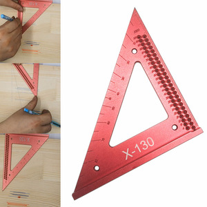 Image 1 - Woodworking line ruler Hole Scribing Gauge Precision Squares Triangle ruler woodworking crossed out Measuring Tool