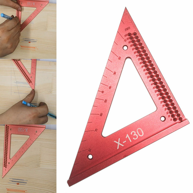 Woodworking line ruler Hole Scribing Gauge Precision Squares Triangle ruler woodworking crossed out Measuring Tool