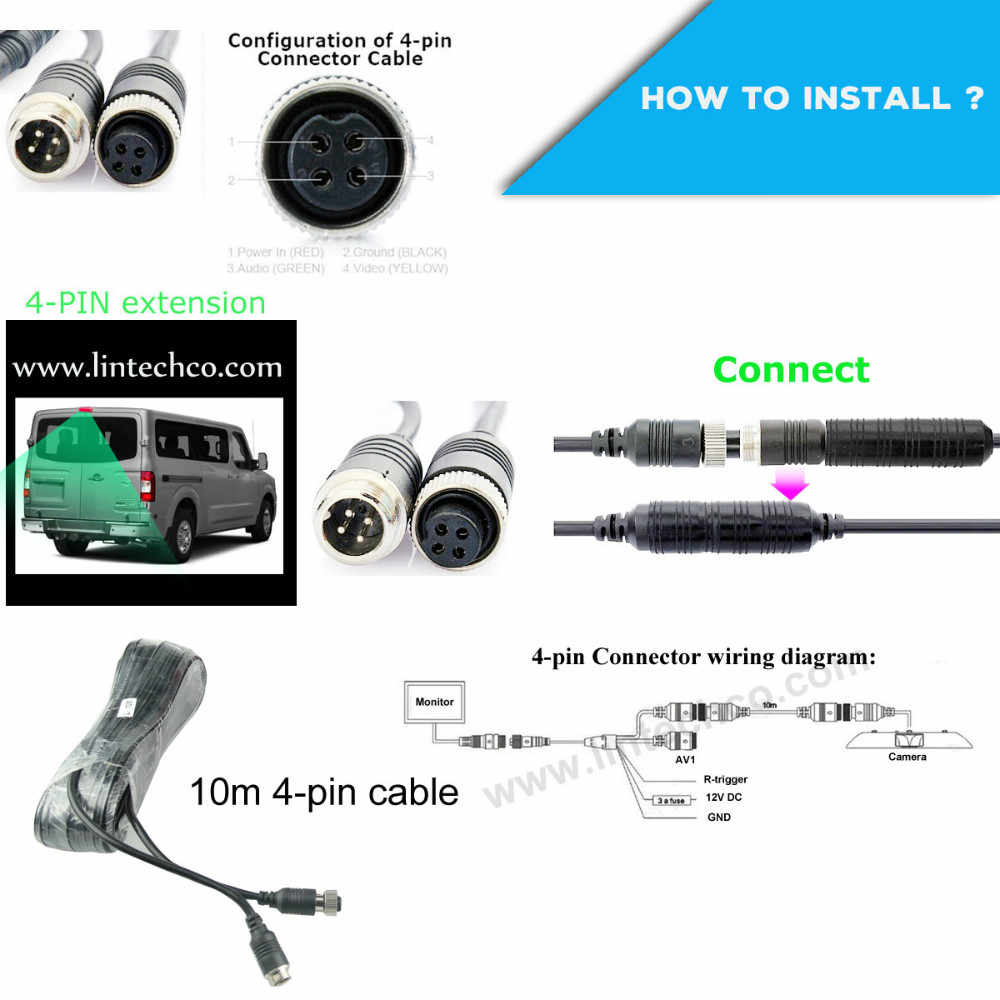 7 mirror monitor sony ccd universal van stop light rear view camera [ 1000 x 1000 Pixel ]