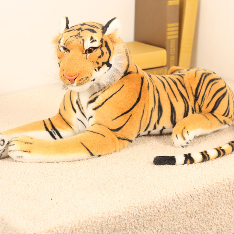 30 90cm Huge Prone Tiger Plush Toy Big Tiger Plush Doll Simulation