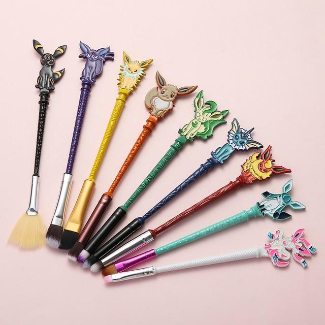 مجموعة فرش مكياج العيون من 9 قطعة/المجموعة/مجموعة من Eevee مكونة من مجموعة فرش مكياج جميلة للحيوانات/الألعاب أدوات تجميل للنساء