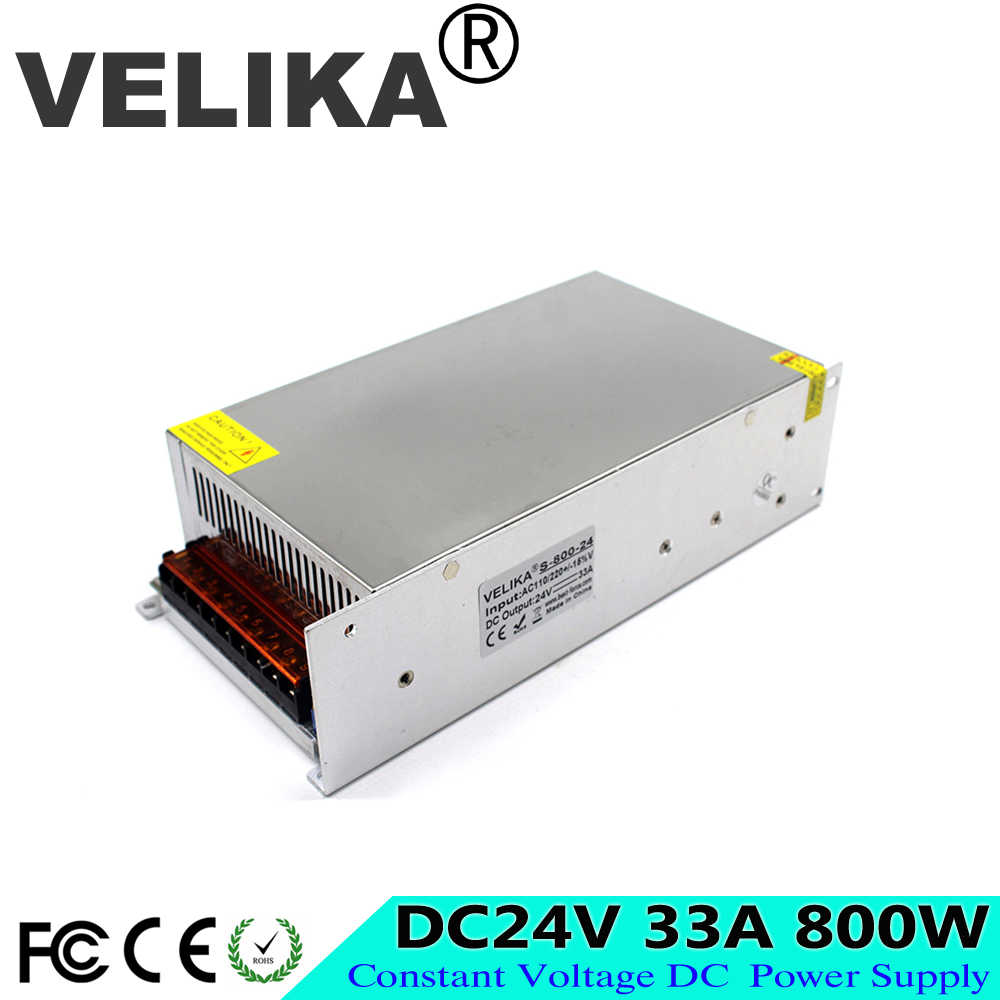 Один Выход DC24V 33A 800 W импульсный источник Питание 110 V 220 V дo AC DC 24 V преобразователь Напряжение трансформатор для Светодиодные ленты света