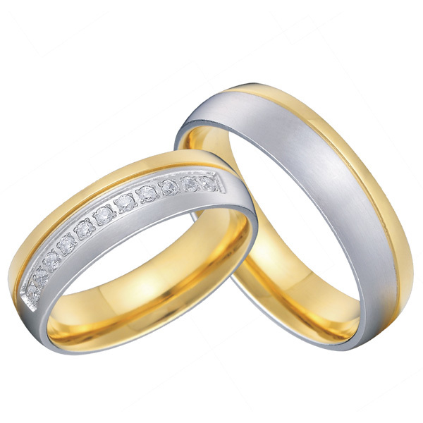 Custom Tailor Mens And Womens Titanium Matching Wedding Promise
