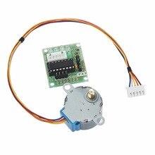 Adeept Шаговые двигатели + Драйвер платы ULN2003 5 В 4-фазы 5 линия для Arduino Raspberry Pi Бесплатная доставка Наушники DIY diykit