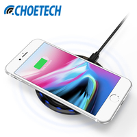 NEW CHOETECH 7 5W Wireless Charger With Smart Lighting Sensor Qi Wireless Charging Pad For IPhone