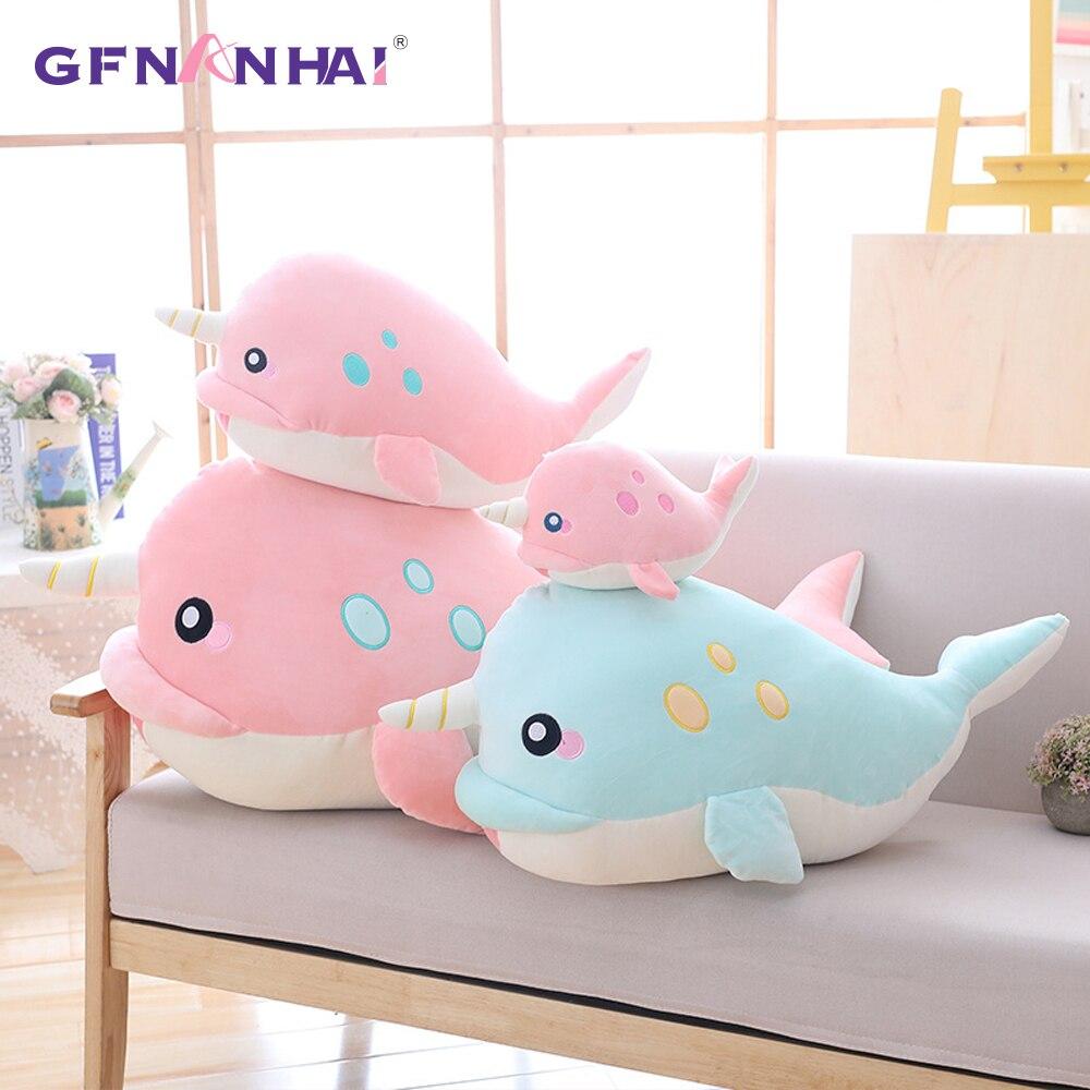 1pc 65 95cm Giant Size Narwhal Plush Pillow Cute Unicorn Whale Plush