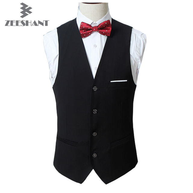 Dress Vests For Men Slim Fit Mens Suit Vest Male Waistcoat Gilet Homme Casual Sleeveless Business Casual Wedding Party Suit