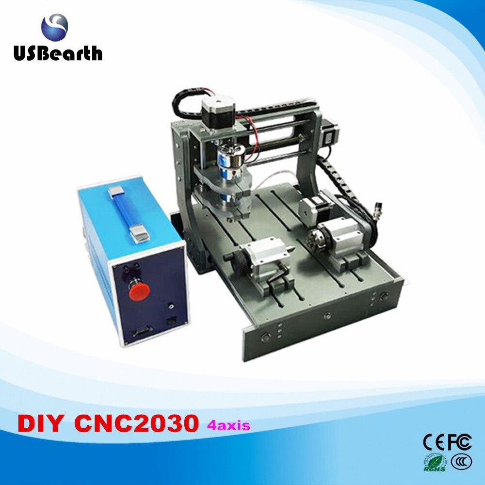 Newest 2030 mini cnc router 2 in 1 4 axis cnc cutting machine free tax to EU factory sale newest cnc router 2030 2 in 1 4axis mini cnc milling machine