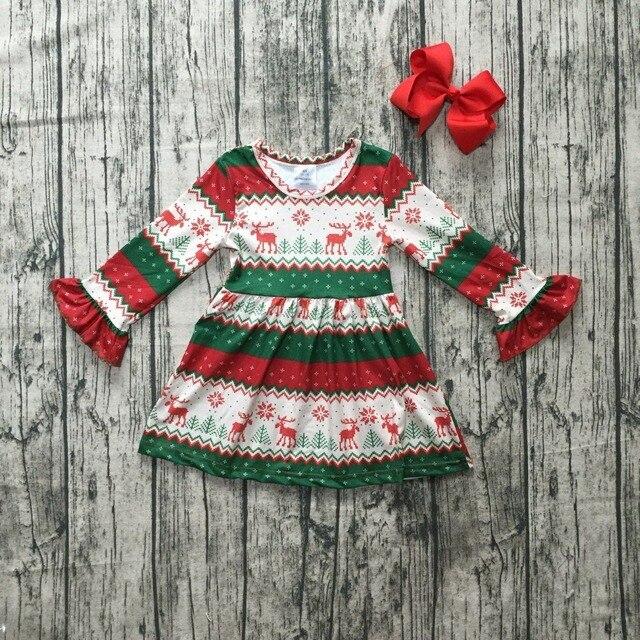 a9ea2c94d70c Christmas girls children clothes baby cotton Fall Winter Aztec ...