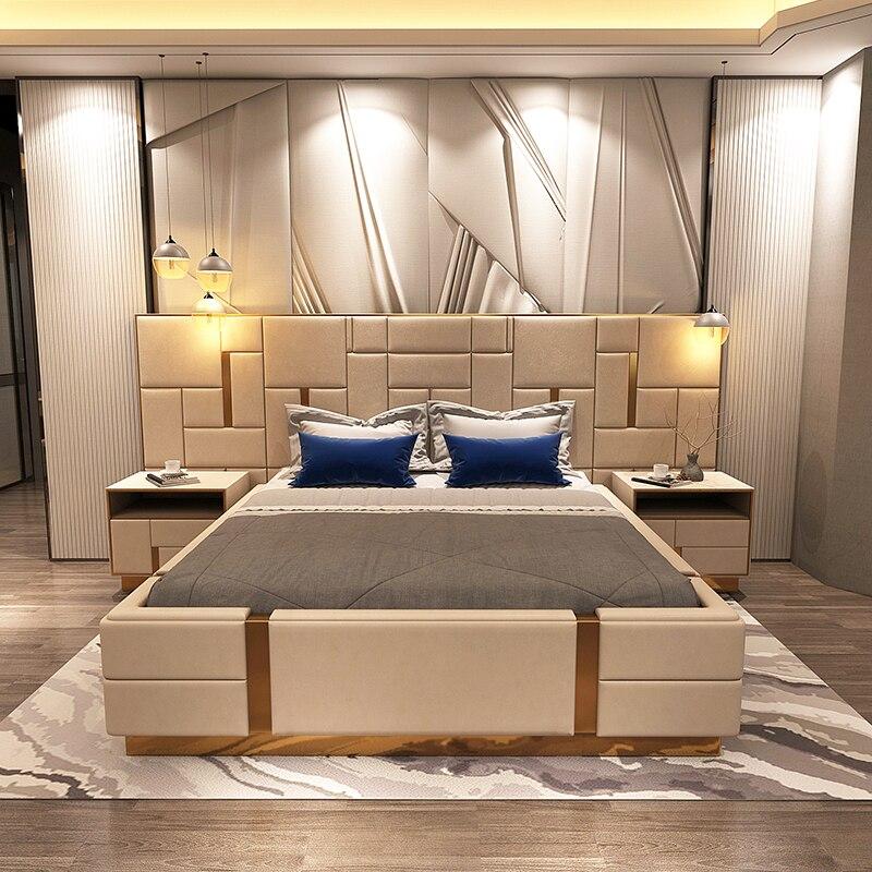 US $3299.0  Italian Style Bedroom Furniture Postmodern luxury style bed-in  Bedroom Sets from Furniture on AliExpress