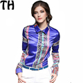 10 colors Blusas 2017 new spring Women Blouses  Loose Tops print Long Sleeve Female Solid Shirt women's blouses FY097