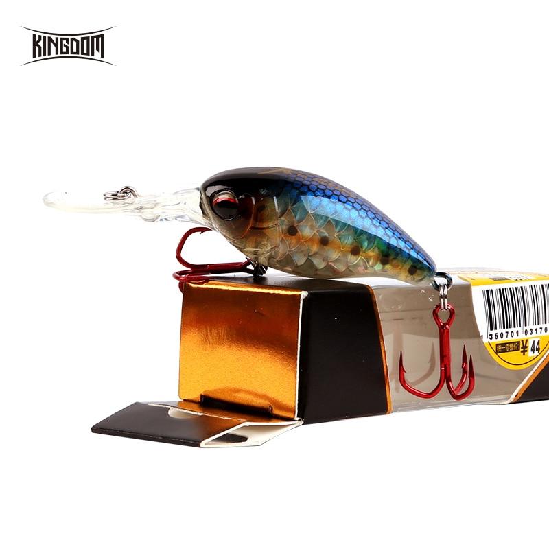Kingdom Minnow leurre de pêche manivelle 5 cm 10.5g matériel de pêche appâts durs Wobblers artificiels avec crochets VMC modèle 3507