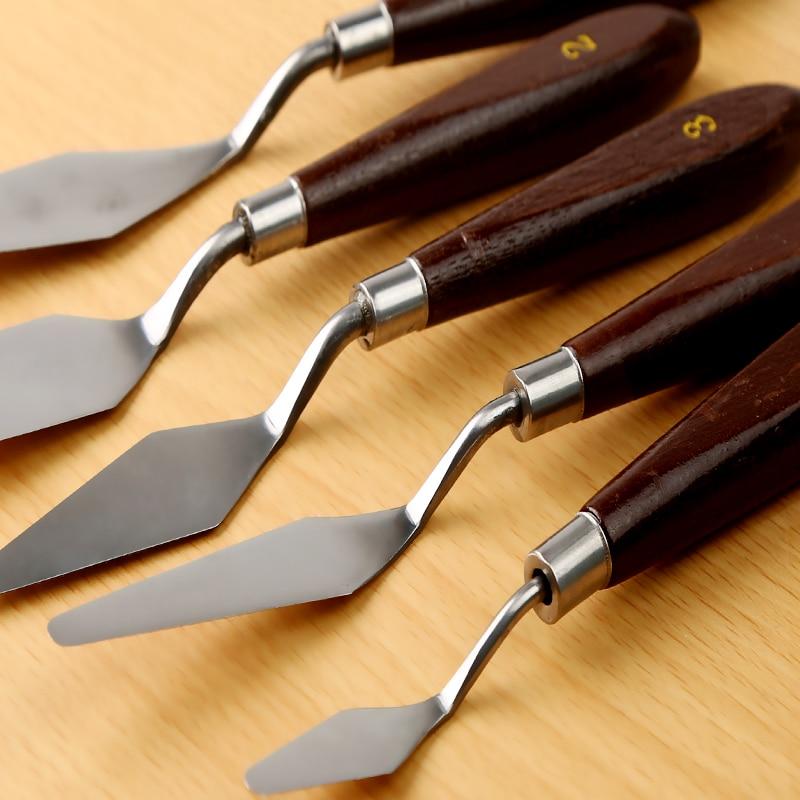 Oil Painting Scraper Acrylic Powder Paint Pick Knife Coloring Beginner Scraper Palette Knife Multi-type Scraper Art Supplies