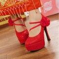 2015 moda brilho de festa de casamento sapatos de plataforma de salto alto zapatos mujer