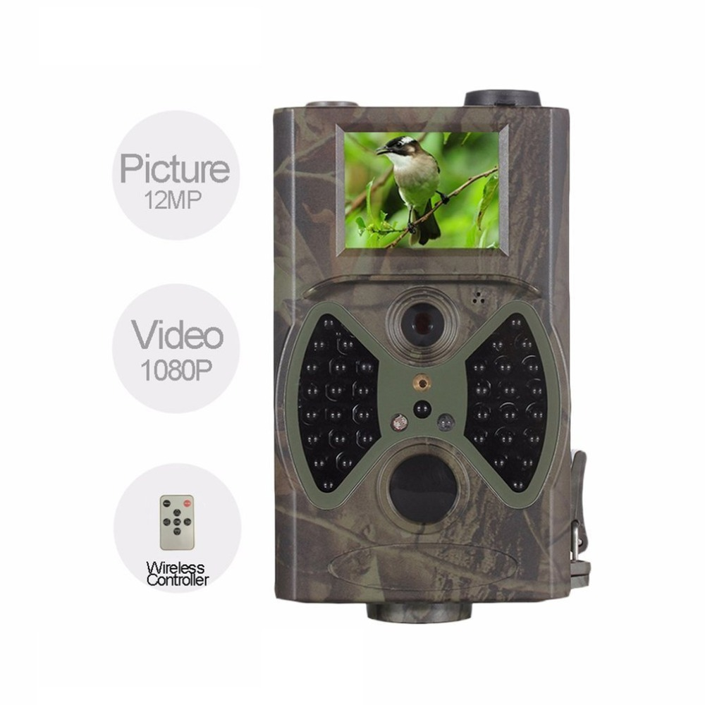 HC-300A Outdoor Hunting Camera Infrared Night Vision Digital Trail Camera Waterproof 1080P HD Wildlife Scouting Device hc 800a 12mp 1080p infrared digital trail camera 120 degree wide angle night vision hunting camera wildlife scouting device
