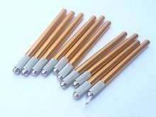 50 Pcs Aluminum Alloy Professional Disposable Permanent Makeup Microblading Manual Eyebrow Tatoo Pen