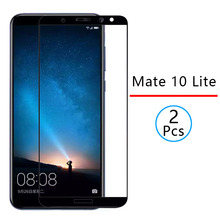 2pcs Protective Glass For Huawei Mate 10 Lite Tempered Glass Screen Protector Fu