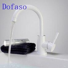 Dofaso white lavatory faucet and Black sink Faucet kitchen tap mixters
