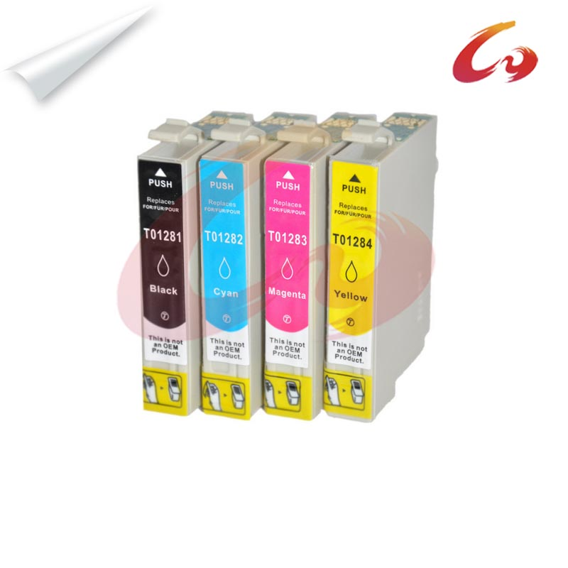 4 pcs T1281 T1284 Ink Cartridges Full Ink for Epson Stylus SX125 SX130 SX230 SX235W SX420W