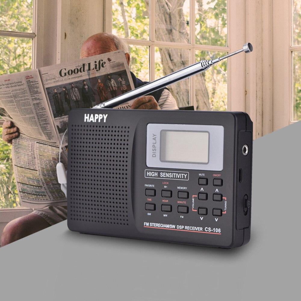 VBESTLIFE мини портативное радио fm Поддержка FM/AM/SW/LW/tv звук Полная частота радио приемник Будильник FM радио мини радио