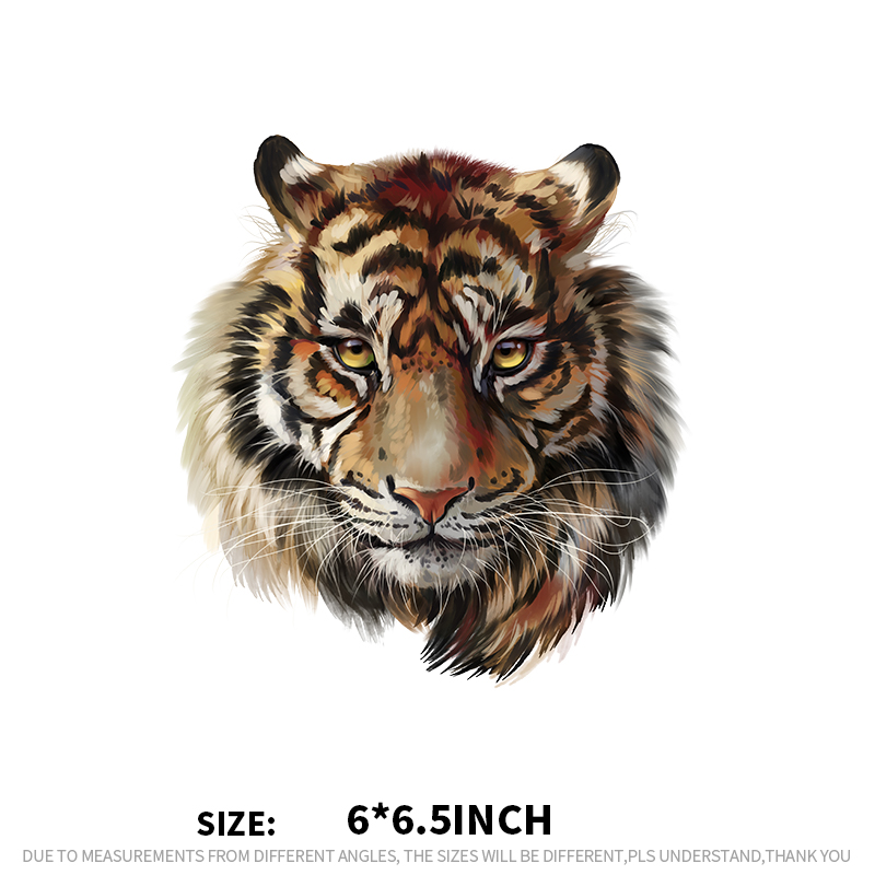 c3f688896636 XC Ironing Stickers Heat Transfer DIY Accessory Clothes Patches for Women  Live Tiger Animal Patch A-level Washable Appliques