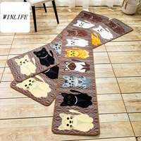 WINLIFE Cartoon Style Carpets Lovely Cats Rugs For Bedroom Anti Skid Mats For Bathroom/Kitchen Soft Entrance Doormate