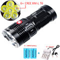 Led Flashlight 18650 battery CREE XML T6 Outdoor light long-range Rechargeable Police flashlight