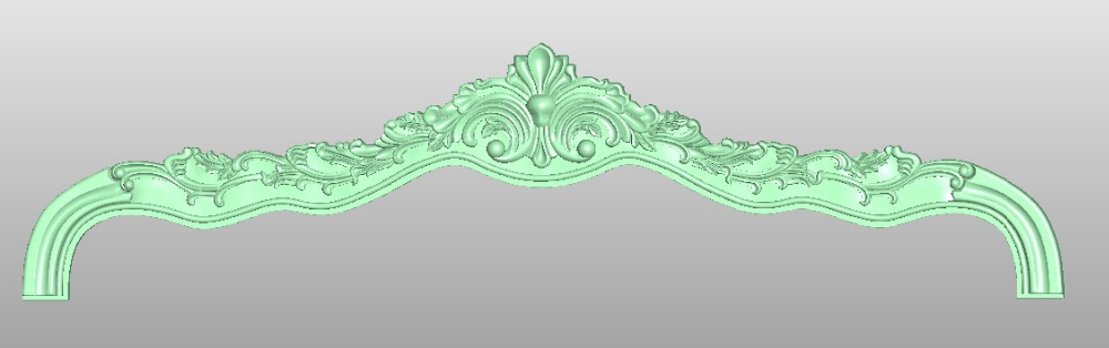 3D model STL format file for cnc router engraving furniture sofa cabinet chair leg pattern Artcam 708