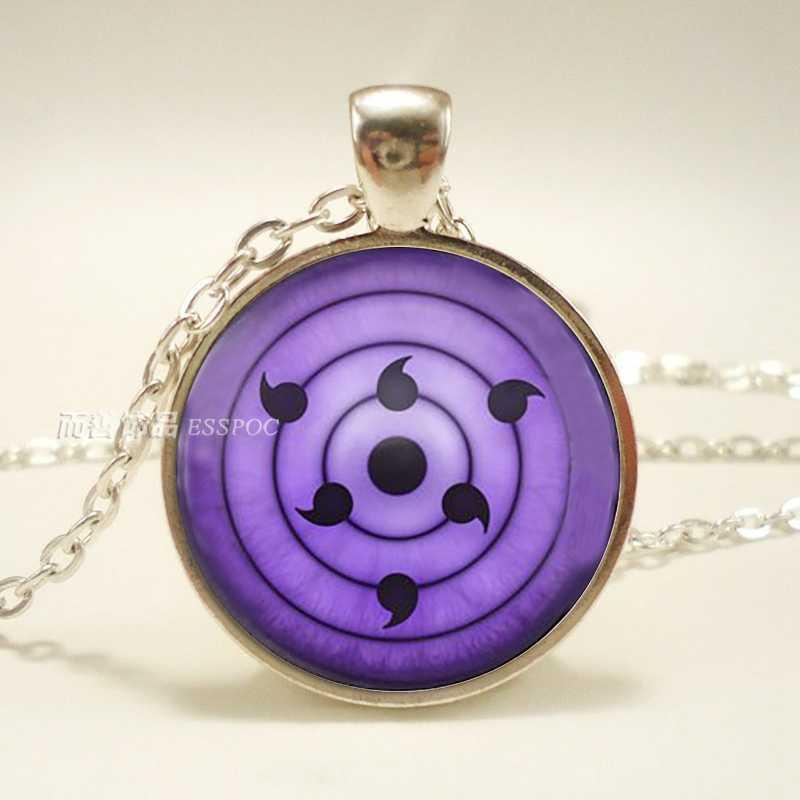 Rinnegan Sasuke Uchiha Eye pendant Naruto anime Sharingan Eye Necklace 14 Style