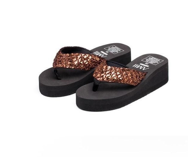 Fashion Women  Flip Flops Mujer Women Sequins Sandals Beach Slippers Shoes Summer Sandals Flip Flops Lady Wedges ShoesFashion Women  Flip Flops Mujer Women Sequins Sandals Beach Slippers Shoes Summer Sandals Flip Flops Lady Wedges Shoes