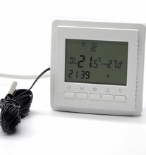 EU Programmable Dual Sensor floor heating manifold Thermostat for Warm Floor