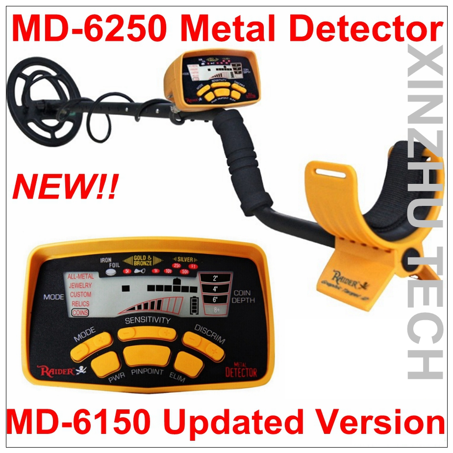 New Arrival MD-6250 Metal Detector Professional Underground Gold Detector Treasure Hunter new arrival md 6250 metal detector professional underground gold detector md6250 treasure hunter md 6150 updated version