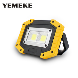 DC 5V 20W Led Portable Spotlight Outdoor Led Work Light Rechargeable 18650 Battery For Hunting Camping Working Flood Light