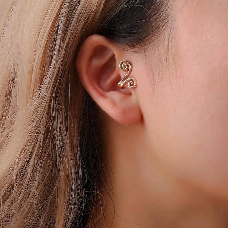 Mossovy U 字型の耳カフ女性ファッションの花の耳クリップ女性のクリップイヤリングジュエリー Pendientes brincos