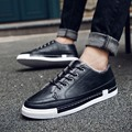 The winter low shoes and casual synthetic leather shoes warm cashmere Korean male youth men's new British style shoes set foot