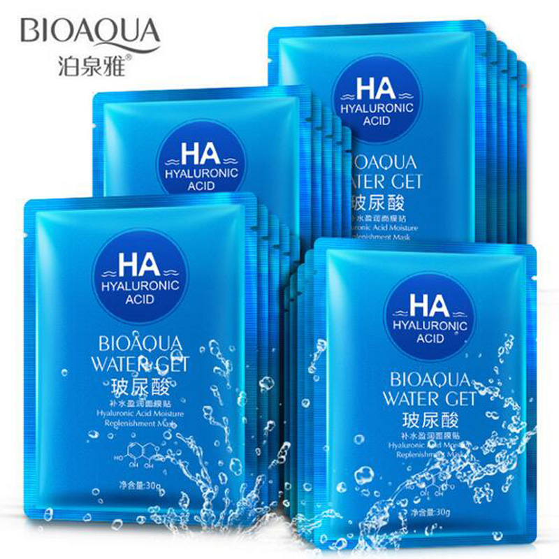 Lower Price with 30g Bioaqua Hyaluronic Acid Moisturizing Nourishing Facial Mask Oil Control To Acne Autumn Winter Skin Care Face