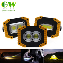 LED Portable Spotlight Led Work Light Rechargeable 18650 AA Battery Outdoor COB Flood Lights Lamp For Hunting Camping Flashlight yupard smd led flood light spotlight searchlight outdoor camping fishing flashlight 3 2200mah 18650 rechargeable battery charger
