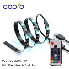 USB LED Strip 5050 RGB TV Background Lighting Kit with 17Key RF Controller or Mini 3Key Controller ,1Meter/Set