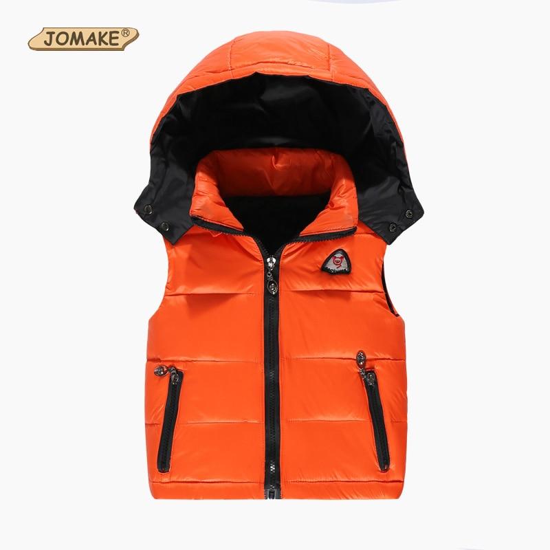 Kids Vest Girl Boy Winter Warm Thicken Vests Baby Duck Down Coat Waistcoat Zipper Hooded Jackets For Girls Boys Children Coats