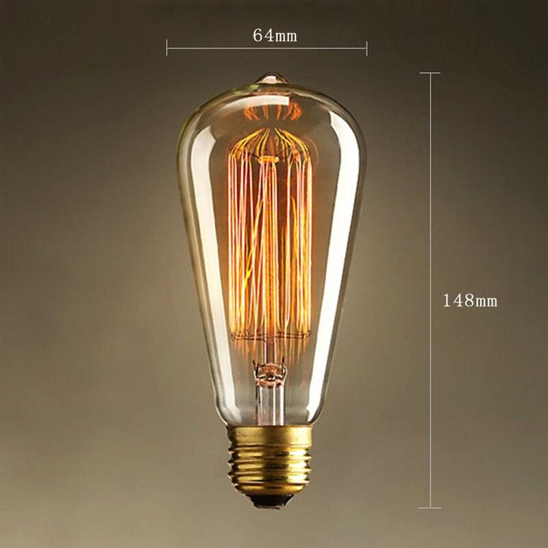 Edison LED Light Bulb E26/E27 Base Vintage tungsten wire 110V / 220V ST64 LED Bulb for Restaurant,Home,Reading Room,Office