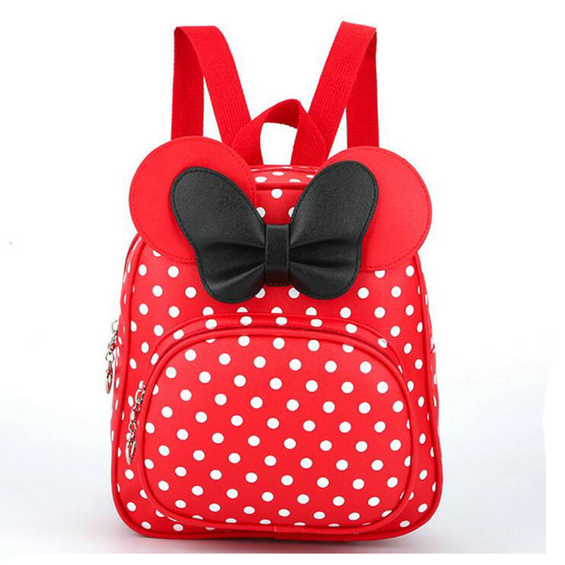 2018 New Arrivals PU Baby Girls Kids Backpack Cartoon Cute Butterfly Knot Princess Backpack Beautiful Schoolbag Bow Mouse Ears