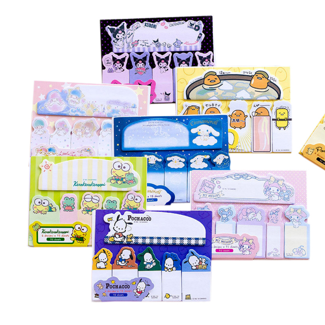 20packs/lot kawaii cartoon memo pad sticky notes planner label sticker stationery school supplies wholesale
