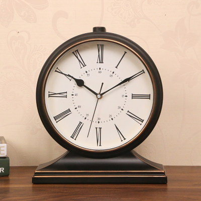 Bureau décoration ameublement bureau chambre alarme muet rétro Silence pendule Table Quartz horloge nuit bureau Vintage horloge LY451 - 5