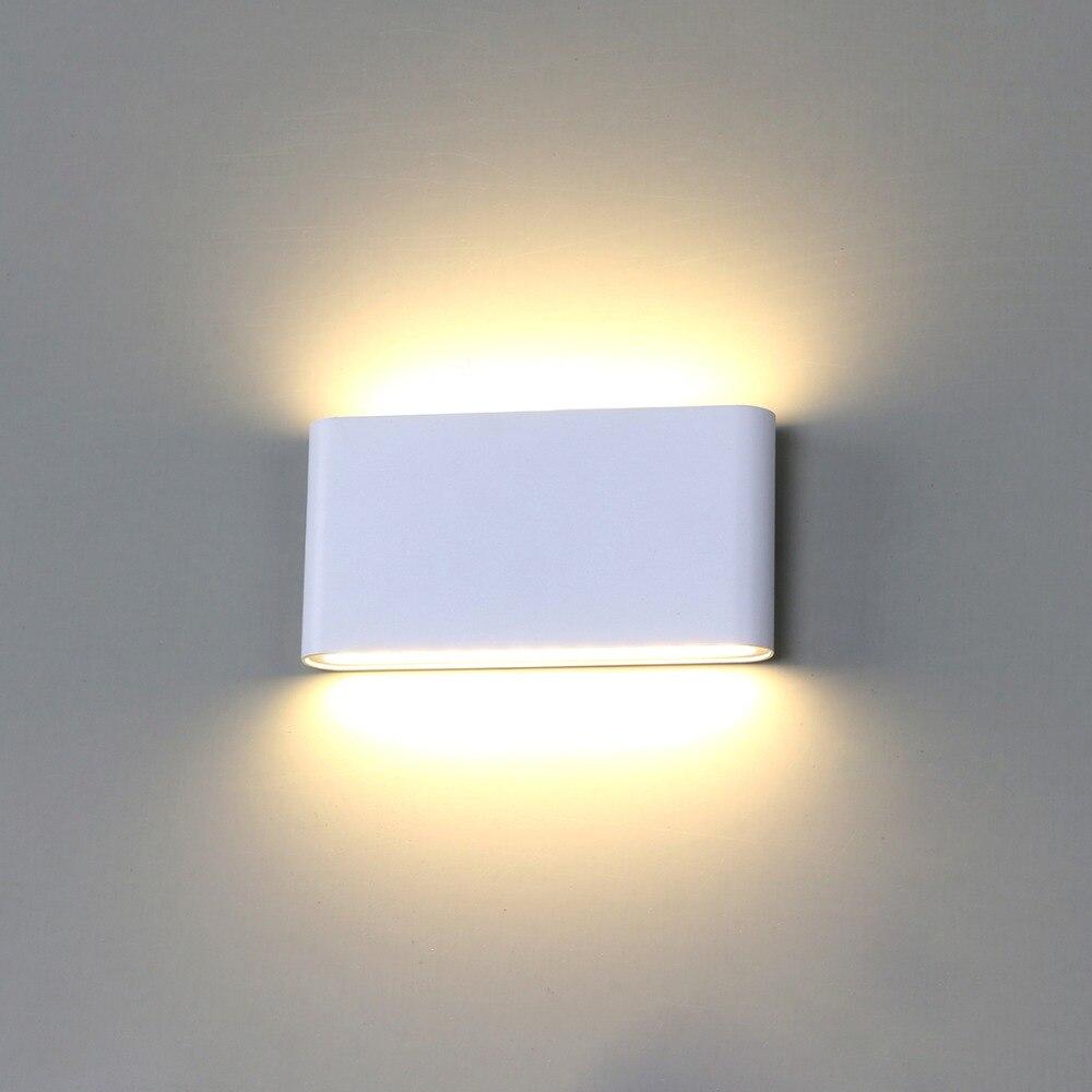 Luz de la pared Led impermeable al aire libre de la pared de la lámpara IP65 de aluminio 6 W/12 W LED luz de pared interior decorado de pared lámpara de BL07