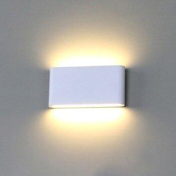 Tường Ánh Sáng Led Chống Thấm Ngoài Trời Đèn Tường IP65 Nhôm 6 W/12 W DẪN Ánh Sáng Bức Tường Trong Nhà Trang Trí Tường treo BL07