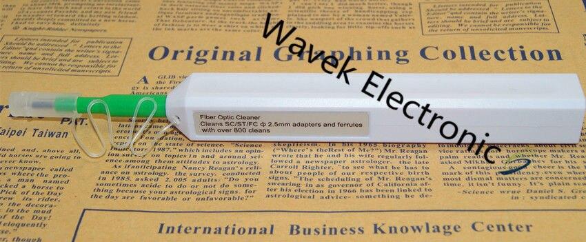 De fibra óptica, un clic limpiador conector Universal 2,5mm/SC/ST/FC conector de fibra óptica, limpiador de la pluma fibra de herramienta de limpieza