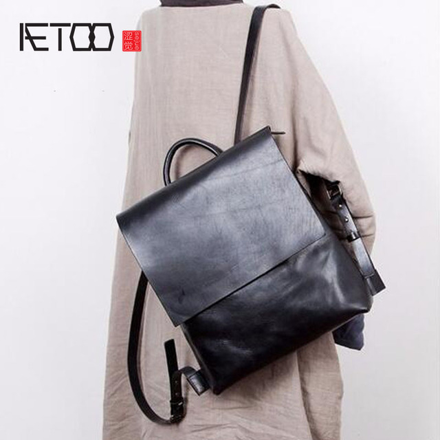 ae4c682626 AETOO Designer original Japanese retro art first layer cowhide student bag  female shoulder bag leather Korean bag